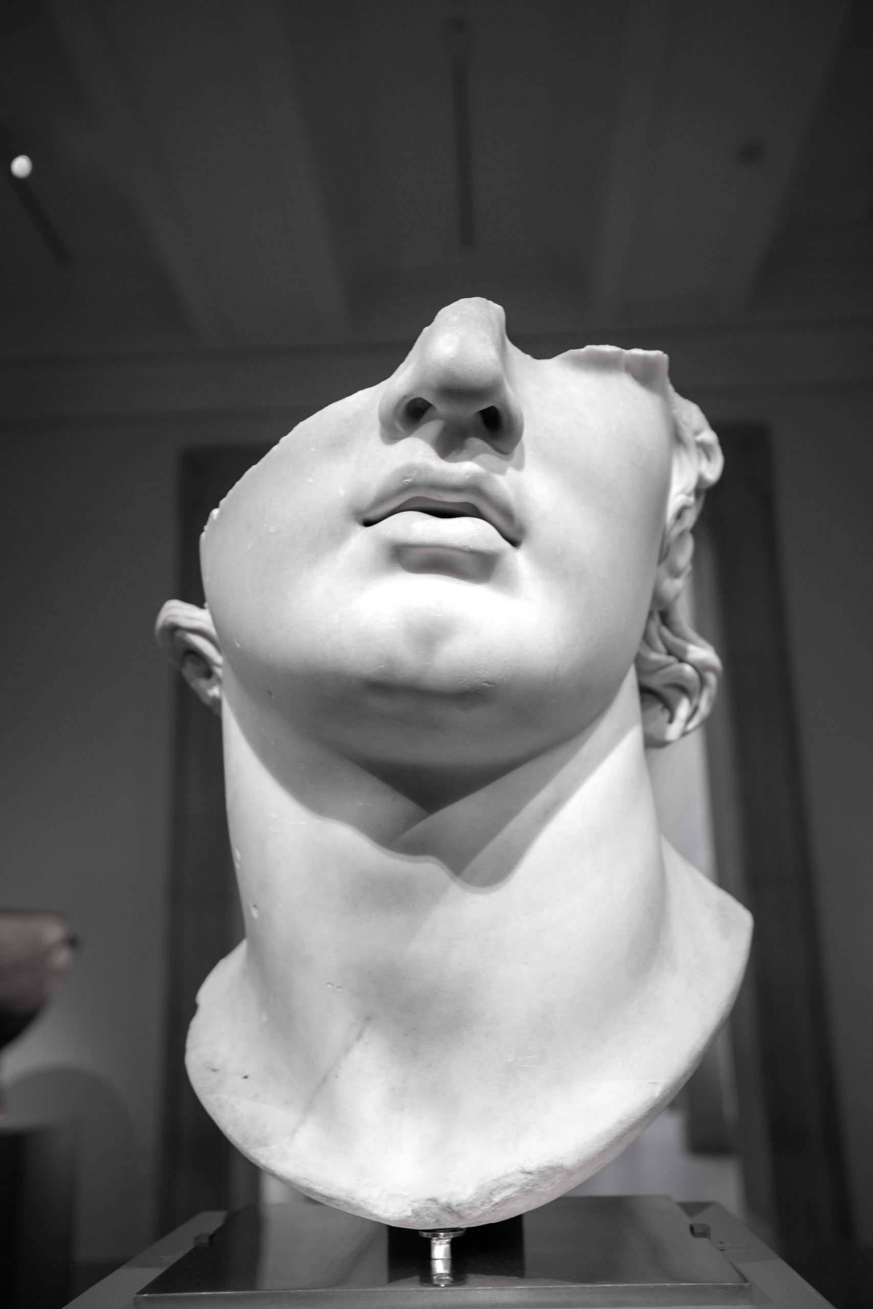 The Fragmentary Colossal Head of a Youth Greek Statue The Metropolitan Museum of Art The Met in New York City New York Photographed by Annie Fairfax