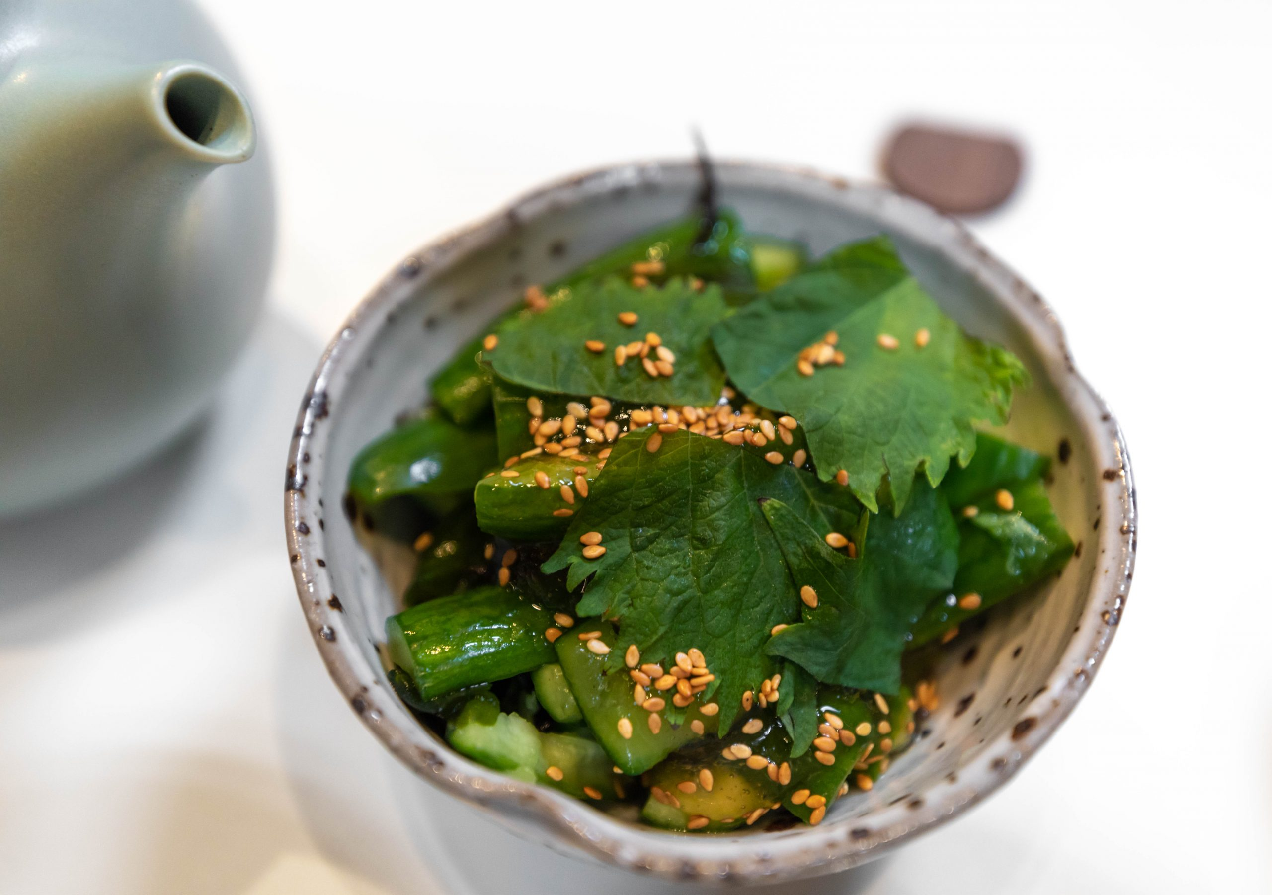 Smashed Cucumbers at Rule of Thirds Brooklyn Japanese Food in New York City NYC Fine Dining Asian Cuisine Luxury Restaurants of the World Written and Photographed by Annie Fairfax