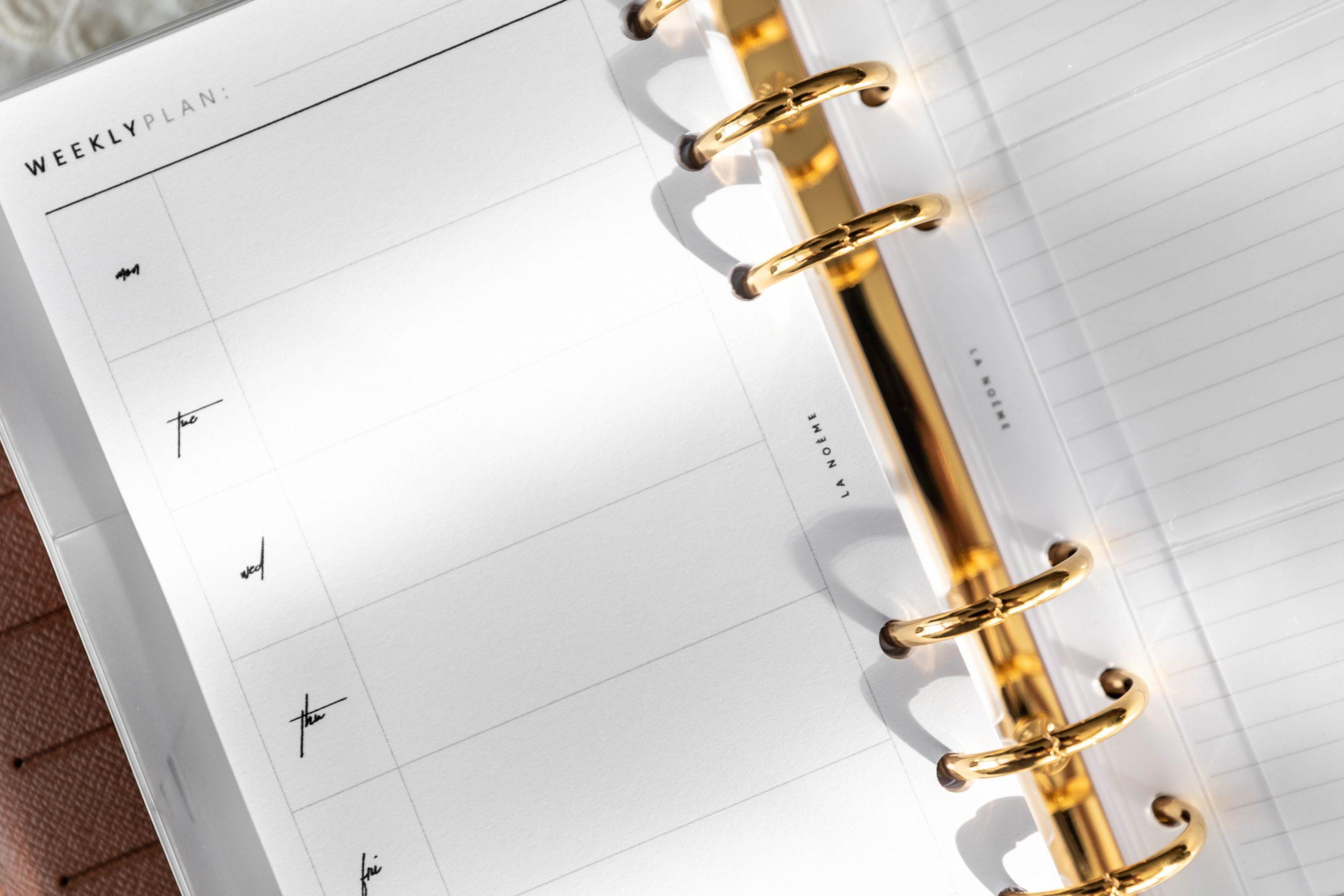 Hobonichi Style Planner Pages Louis Vuitton Agenda Setup by Annie Fairfax