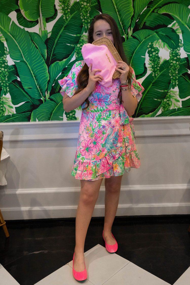 Neon Pop Pink Tieks & Lilly Pulitzer