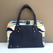 The Rowena Handbag - the cross between a carpet bag and a bowler bag