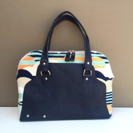 The Rowena Handbag - the cross between a carpet bag and a bowler bag