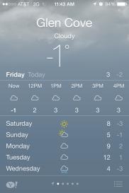 ... immernoch kalt!