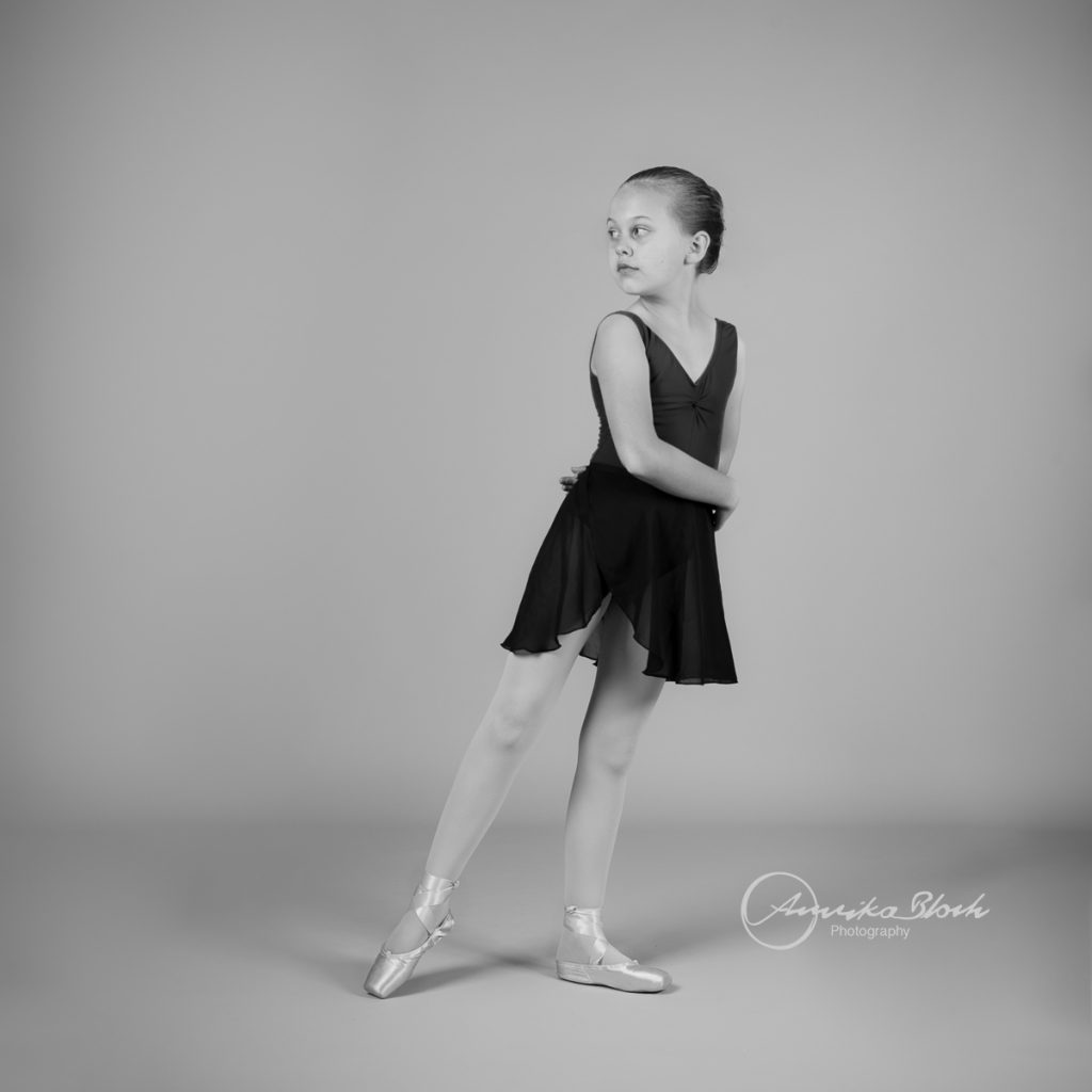 A young ballerina during a ballet photography session in West London. Dance photography in Maida Vale