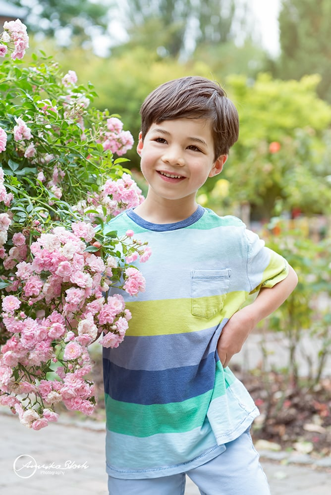 child photography in Holland Park, London, boy