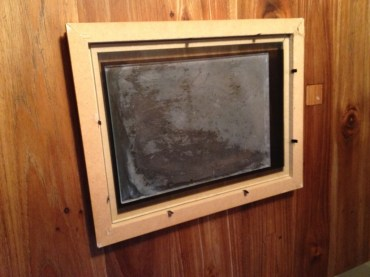 Face down: front glass plate, acetate, then frosted glass plate
