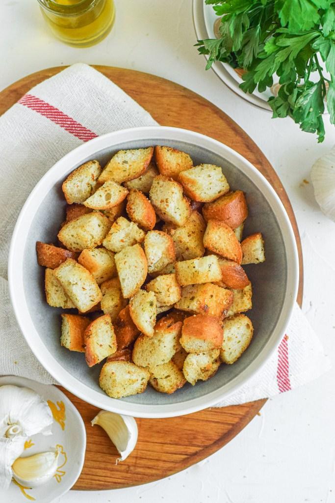 Garlic Parsley Croutons