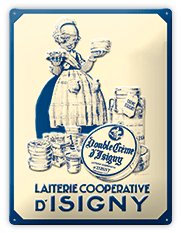 isigny-ste-mere-les-collectionades-plaque-retro