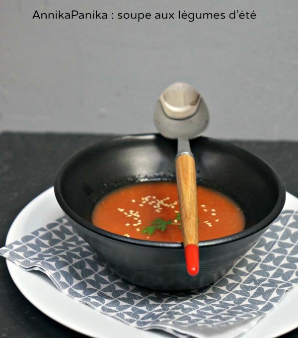 soupe aux légumes d'été