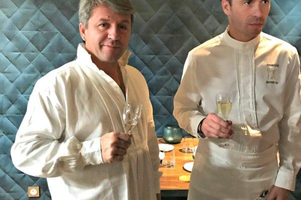 Déjeuner à 4 mains chez Christophe Hay avec Edouard Loubet