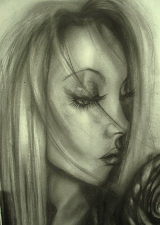 Charcoal close up