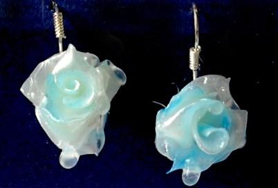 Raindrop Rose Drop earrings