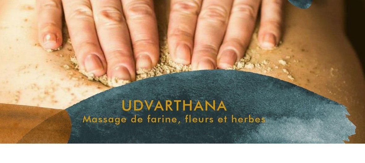 Formation udvarthana - Massage de farine, fleurs et herbes