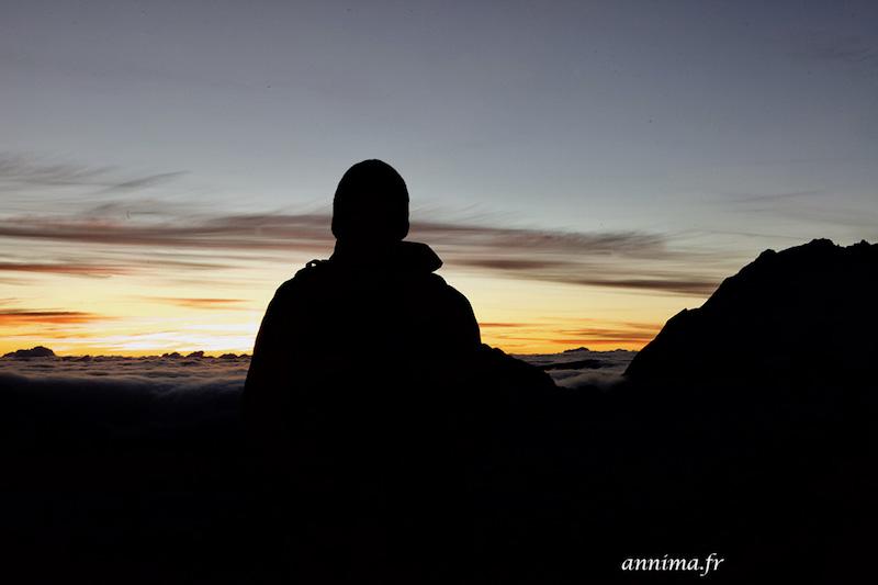 Le lever de soleil sur le Piton du Maïdo
