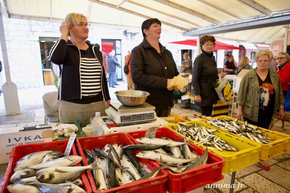 A Split, le marché aux poissons