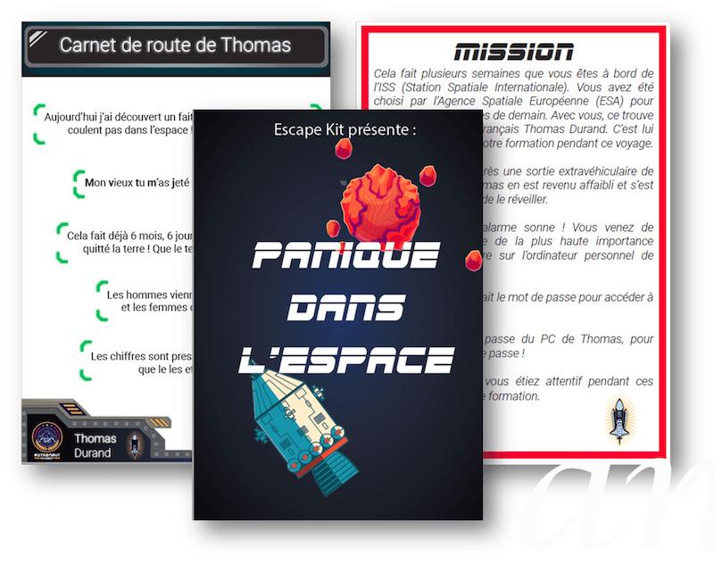 Escape Game Panique dans l'Espace