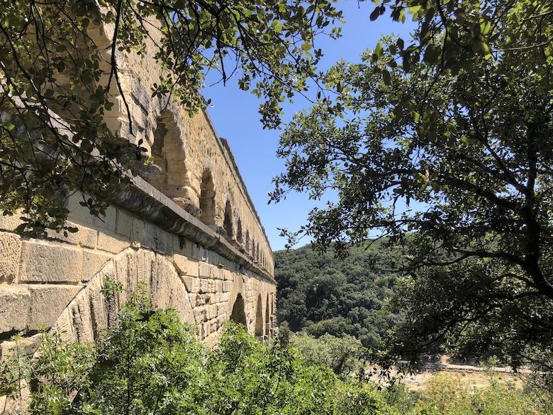 canicule sous le pont du Gard