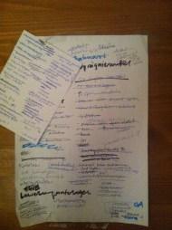Annina's to-do list
