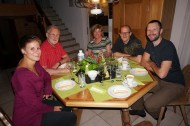 Dinner with the Suter family