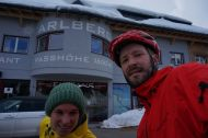 5 hrs later, finally at the top of the Arlberg Pass (1800m)