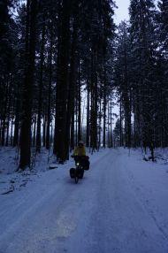 Midnight bike ride near Mariastein