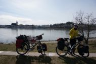 Lunchtime over the Danube from Ybbs