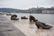 """Shoes on the Danube Bank"" - a memorial to the Jews assassinated by the Fascists during WWII"