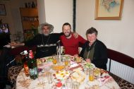 A generous hosts in Bukovets, Tony and Margarita