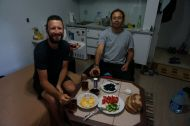 Typical Turkish breakfast prepared by our couchsurfing host Murat
