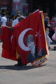 Atatürk - a national hero (you can't escape his presence)