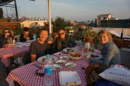Dinner with Cristina on the rooftop