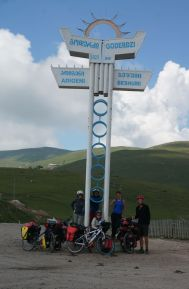 Happily at the top of the Goderdzi Pass (2025m)