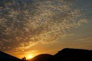 Sheki at sunset