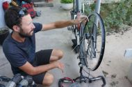 Building my wheel back together, Tashkent