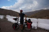 Happily atop the Kamchi Pass (2300m)