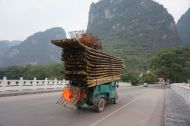 Bamboo boats on the way home