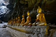 Buddhas hiding in a cave