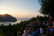 Sunset with the masses, Koh Phi Phi
