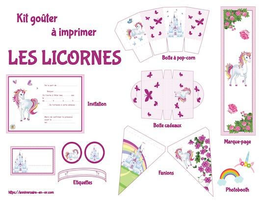 kit gouter licornes
