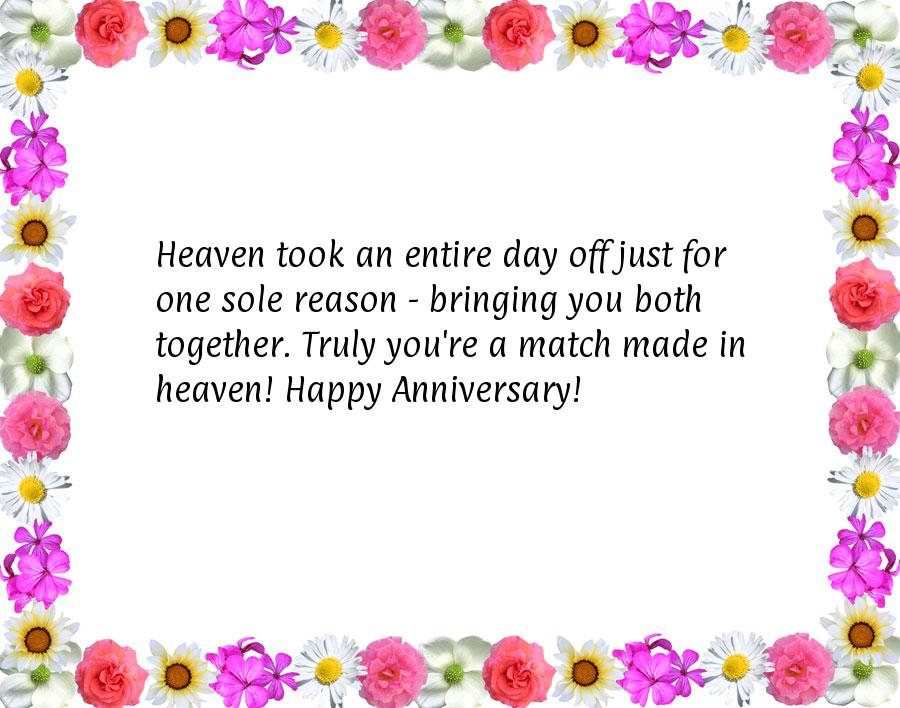 Anniversary Wedding Happy Heaven Husband
