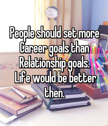 career and relationship goals