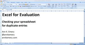 Checking your spreadsheet for duplicate entries
