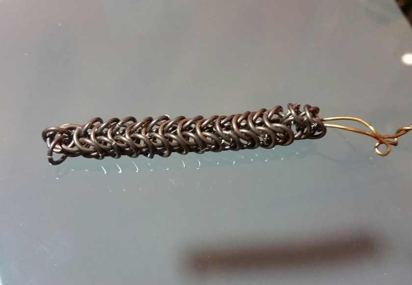 Foxtail Chain Bracelet in Progress