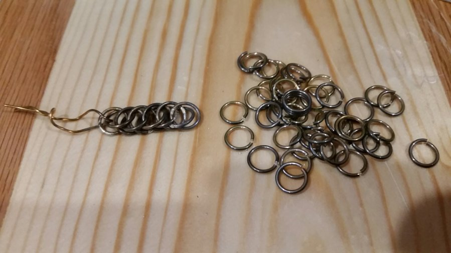 Sterling Silver links and the beginning of a Columbus Chain Bracelet