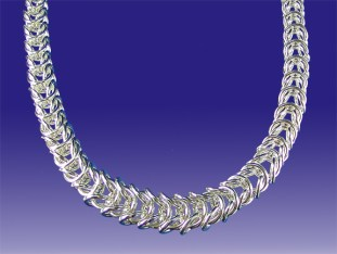 Sterling Silver Tapered Foxtail Chain Necklace