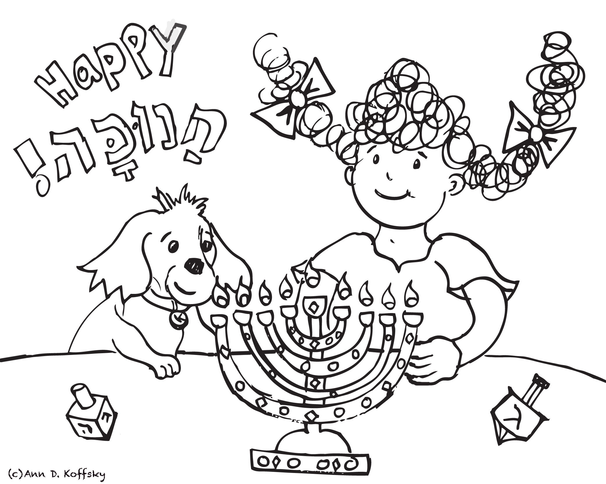 Hanukkah Coloring With Kayla And Kugel