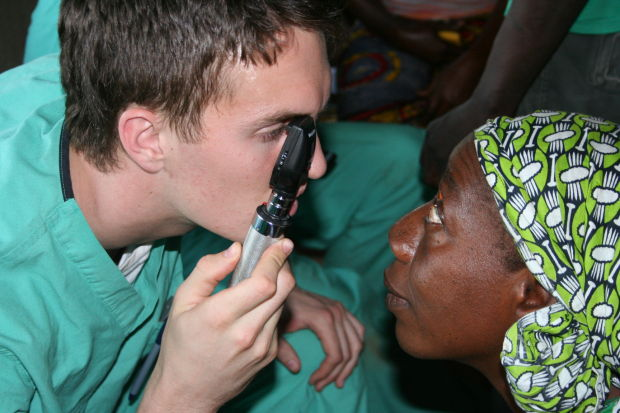Our son, Adam in Mali, helping others see their beautiful world.