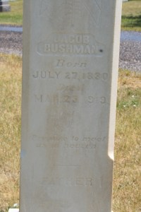 Bushman, Jacob & Charlotte headstone (2)