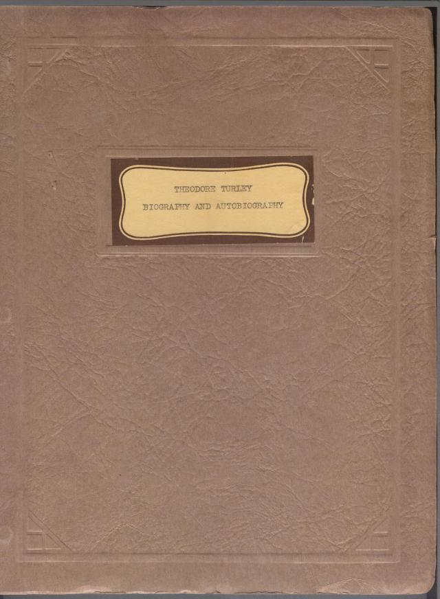 Theodore Turley Journal booklet 1950s 001