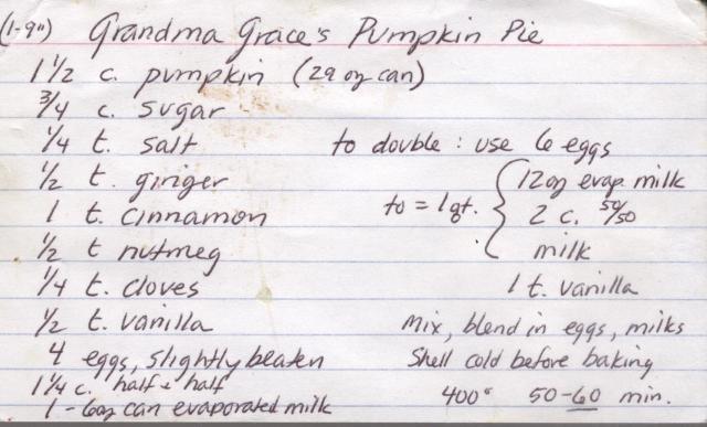 Grace's Pumpkin Pie 001